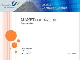 MANET simulation An overview