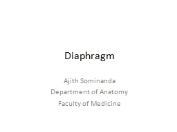 Diaphragm Ajith Sominanda
