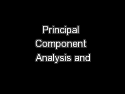 Principal Component Analysis and