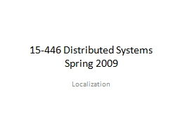 15-446 Distributed Systems