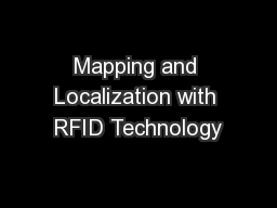 Mapping and Localization with RFID Technology