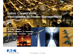 Eaton Corporation  Innovations in Power Management