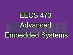 EECS 473 Advanced Embedded Systems