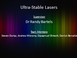 Ultra-Stable Lasers Supervisor
