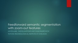 Feedforward semantic segmentation with zoom-out features