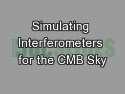 Simulating Interferometers for the CMB Sky