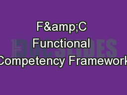 F&C Functional Competency Framework