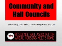 Community and Hall Councils
