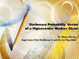 Stationary Probability Vector