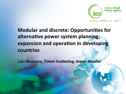 Modular and discrete:  Opportunities for alternative power system planning, expansion and operation
