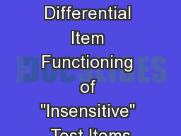 Examining Differential Item Functioning of