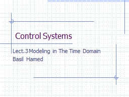 Control Systems Lect.3 Modeling in The