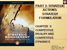 PART 2: STRATEGIC ACTIONS: PowerPoint PPT Presentation