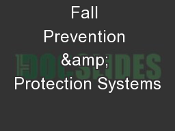 Fall Prevention & Protection Systems