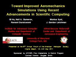 Toward Improved Aeromechanics Simulations Using Recent