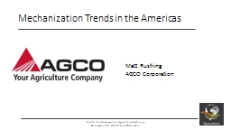 Mechanization Trends in the Americas