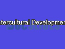 Intercultural Development