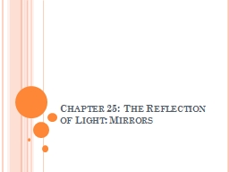 Chapter 25: The Reflection of Light: Mirrors