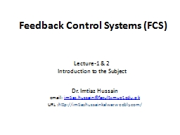 Feedback  Control  Systems ( PowerPoint PPT Presentation