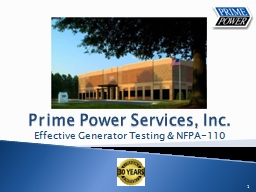 Prime Power Services, Inc.