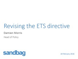 Revising the ETS directive