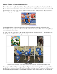 Power Clean A Natural Progression Power cleans have a