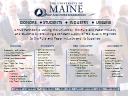 DONORS    ●  STUDENTS PowerPoint PPT Presentation