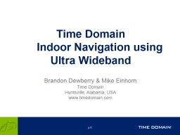 Time Domain 	Indoor Navigation using
