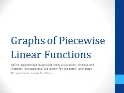 Graphs of Piecewise Linear Functions