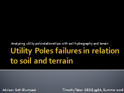 Utility  Poles failures in relation to soil and terrain