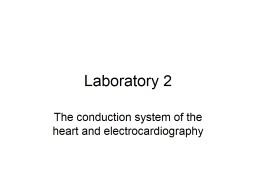 Laboratory 2 The conduction system of the heart and electrocardiography