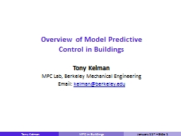 Overview of Model Predictive