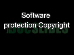 Software protection Copyright