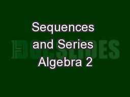Sequences and Series Algebra 2
