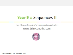 Year  9  ::  Sequences II