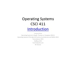 Operating Systems CSCI 411 PowerPoint PPT Presentation