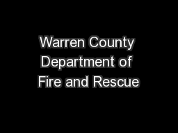 Warren County Department of Fire and Rescue