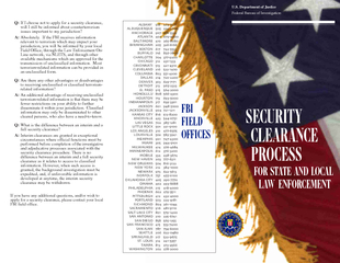 Security Clearance Process for State and Local Law Enf