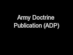 Army Doctrine Publication (ADP)