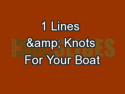 1 Lines & Knots For Your Boat