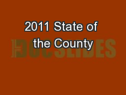 2011 State of the County