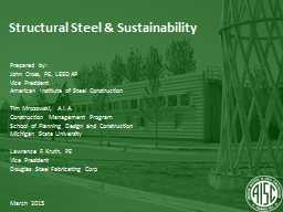 Structural Steel & Sustainability