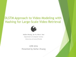 DLSTM Approach to Video Modeling with Hashing for Large-Scale Video Retrieval