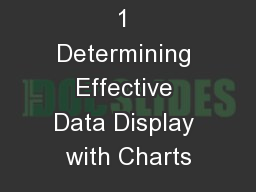 1 Determining Effective Data Display with Charts