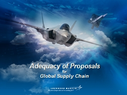 Adequacy of Proposals for