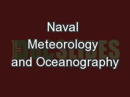 Naval Meteorology and Oceanography PowerPoint Presentation, PPT - DocSlides