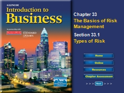 Read to Learn Discuss risk and risk management.