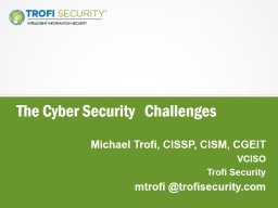 The  Cyber Security   Challenges