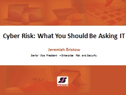 Cyber Risk: What You Should Be Asking IT