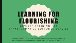 Learning for flourishing